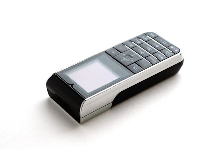 A modern mobile phone with white background photo