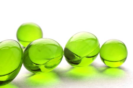 An abstract picture of vitamins pills in green color Stock Photo - 852083