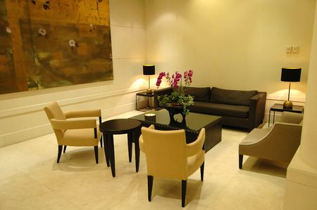 The environment of lobby in a hotel