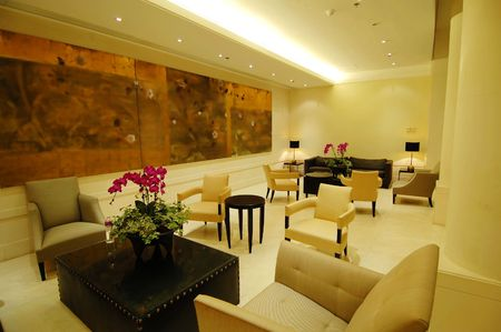hotel lobby: The environment of lobby in a hotel