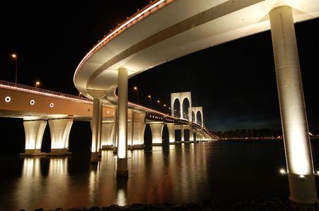 The night of Sai Van bridge in Macau