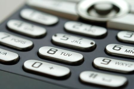 A close up shot of mobile keypad under light Stock Photo - 880321