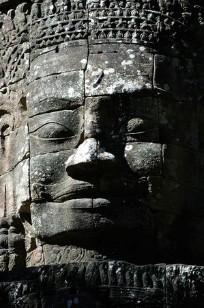 thom: An ancient face of temple in angkor thom