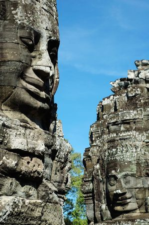 angkor: An ancient face of temple in angkor thom