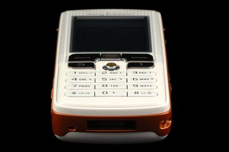 Close up of modern mobile phone over black Stock Photo - 965132