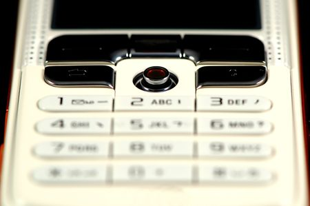 touchtone: The close up shot of mobile keypad