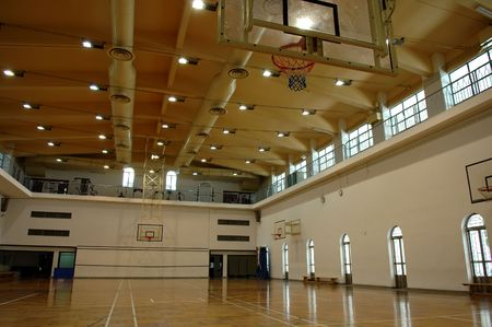 A perspective view of basketball court Stock Photo - 1290917