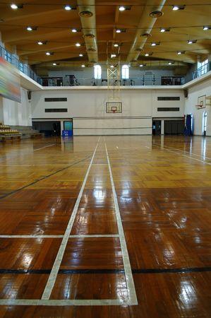 terrain de basket: Une vue en perspective de basket-ball