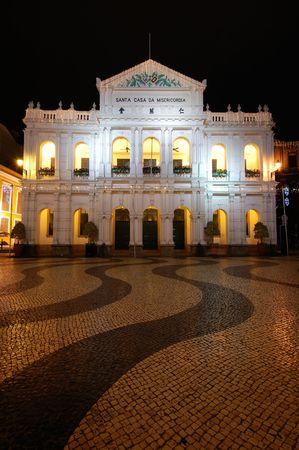 The santa casa de misericordia in the senado square in Macau Stock Photo
