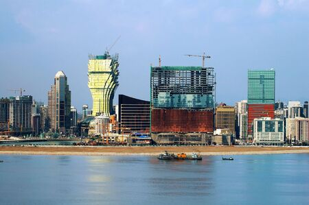 The constructions of new casinos in Macau, the eastern Las Vegas casinos photo