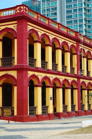 restored: The preserved colonial construction in Macau city