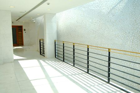 The bright corridor of modern office building photo