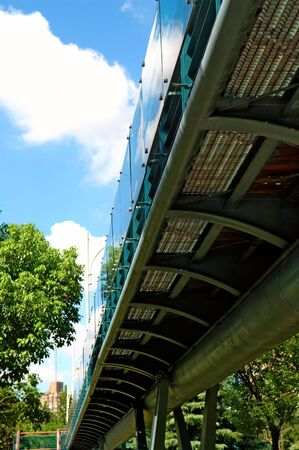 overbridge: The perspective view of overbridge from bottom Stock Photo