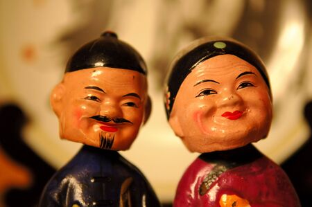 The close up heads of Chinese figurines Stock Photo - 2305519