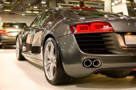 Back of supercar at show