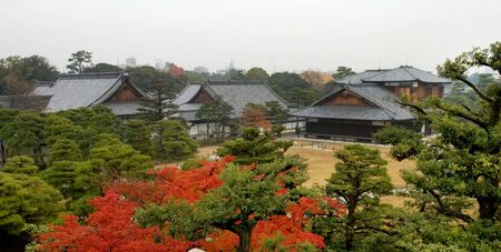 The construction and garden in Nijo Castle, in Kyoto city