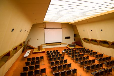 The prespective of a conference or functional hall