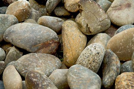 peeble: Background with round peeble stones Stock Photo