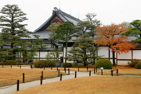 nijo: The construction and garden in Nijo Castle, in Kyoto city