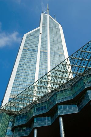 building external: The external of office building over blue sky