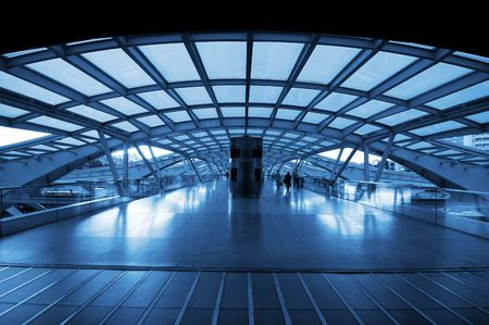 The design architecture of modern train (subway) station Stock Photo - 5912582