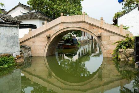 zhouzhuang: The detial of bridge contruction of water town in China