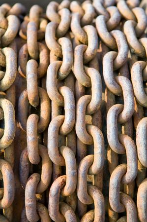 The pattern of rusty chain, texture background   photo