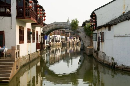 The detial of contruction of water town in China photo