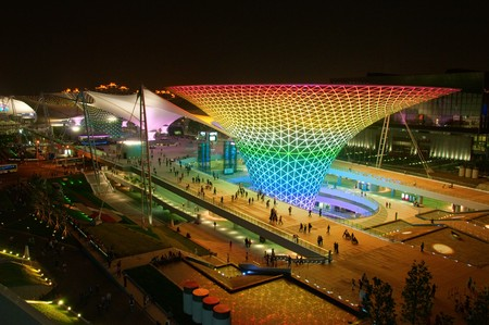 architectural architectonic: SHANGHAI - MAY 24: The Expo Boulevard in World Exposition on May 24, 2010 in Shanghai, China.