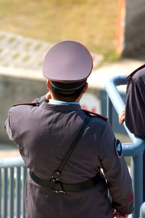 Security guard with police like uniform in China