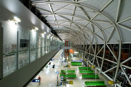 overbridge: The design architecture at the airport in prespective view