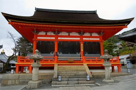 The temple of Kiyomizu dera in Kyoto, Japan