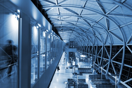 overbridge: The design architecture at the airport in blue tune