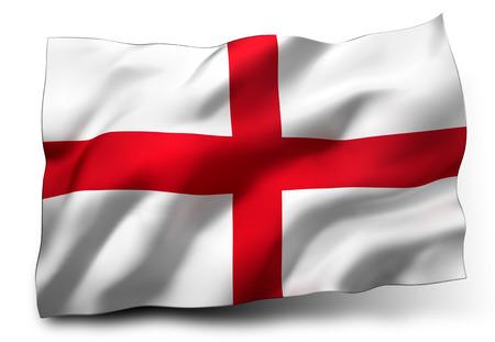 eec: Waving flag of England isolated on white background