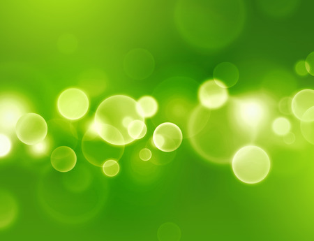 sensation: Green sensation. Abstract green background with glowing light circle effects