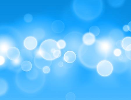 Printemps sensation. Résumé fond bleu avec des effets de cercle de lumière rougeoyante