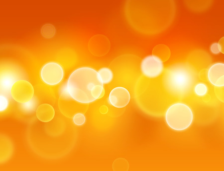 background orange: Summer sensation. Abstract warm background with glowing light circle effects Stock Photo