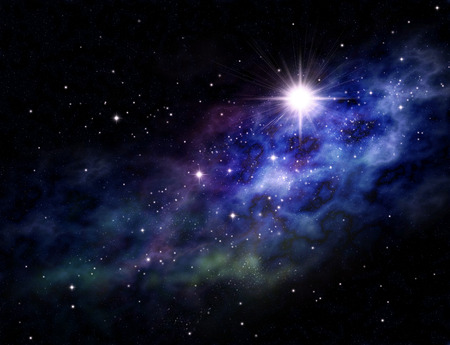 Imaginary background of deep space and star field