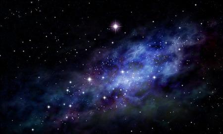 estrellas: Fondo imaginario del espacio profundo y campo de estrellas