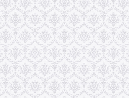 White wallpaper with soft grey floral pattern 免版税图像