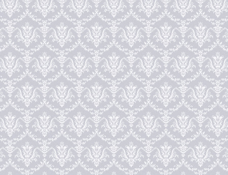 Gray wallpaper with soft white floral pattern