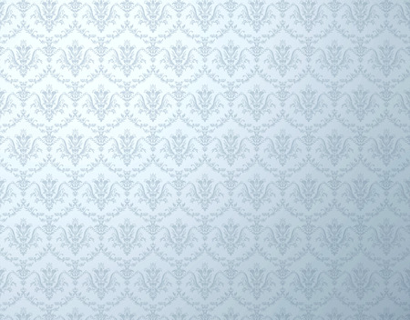 Silver wallpaper with soft floral pattern