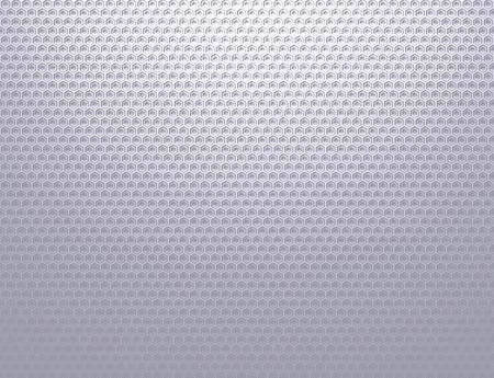 柔らかいシルバー グレーの金属グリッド パターンの壁紙
