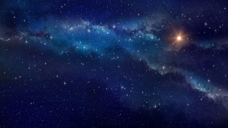 night view: Deep space. Very high definition star field background