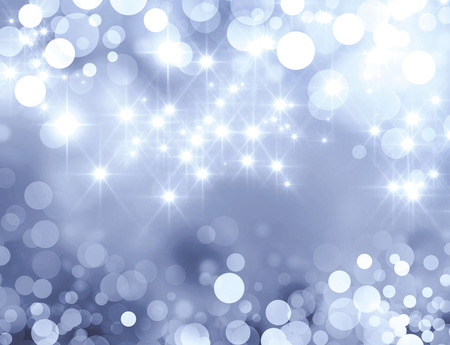 Shiny silver background in starlight and sparkles Imagens