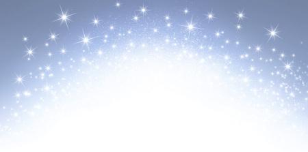 爆発的な星明かりで光沢のある銀色の背景