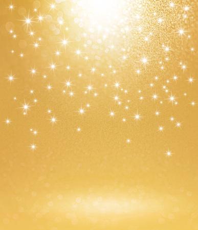 Shiny gold background with starlight raining down Archivio Fotografico
