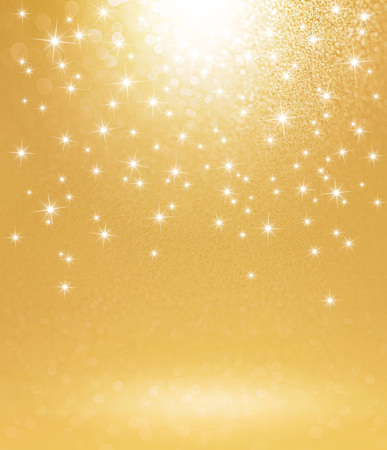 Shiny gold background with starlight raining down Banco de Imagens