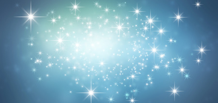 Shiny blue background in starlight Stock Photo