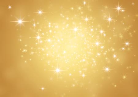 星明りの光沢のあるゴールドの背景 写真素材
